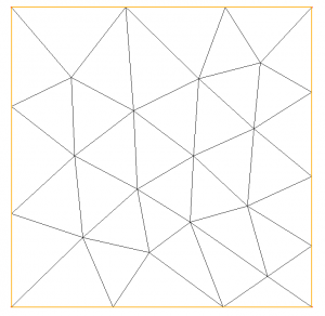 Figure 3: Generation of a mesh from a set of points with preservation of this points