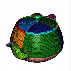 Figure 3: Colors (or references) of the input teapot mesh.